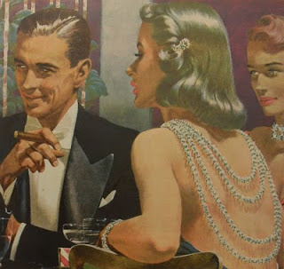 1950s-advertisement-illustration-WEBSTER-CIGARS-Man-Smoking-Tuxedo-Women-in-Gowns-Formal-Wear-2
