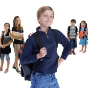 Young kids are ready for school. Education, family, learning
